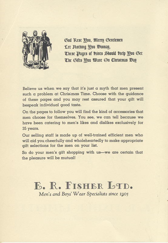 E.R. Fisher Christmas Advertising Campaign 1939