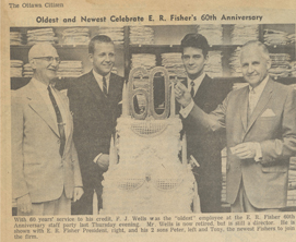 The new recruits. Peter and Tony Fisher join the firm in the 1960's