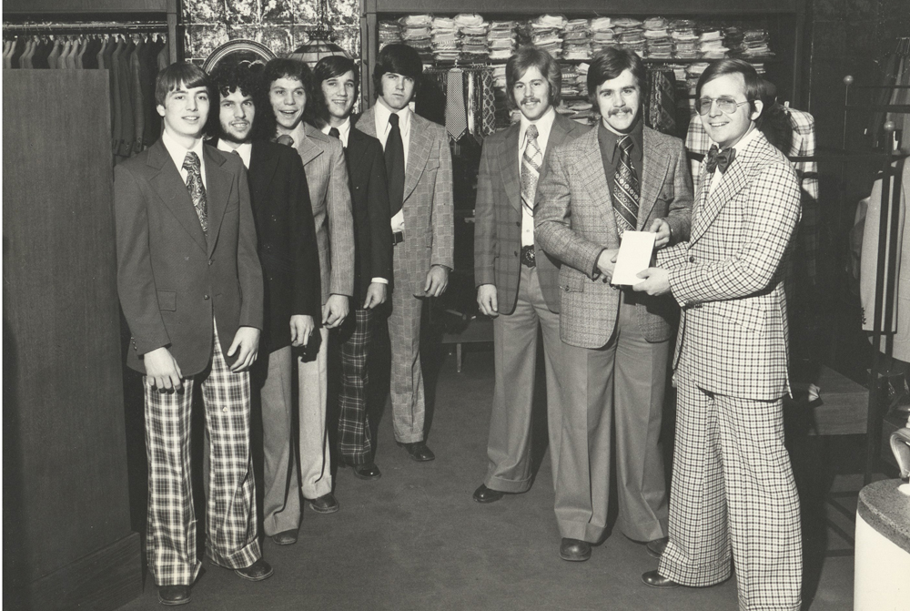 E.R. Fisher Men's Clothier Supporting the Ottawa 67's Hockey Team during the 1970's